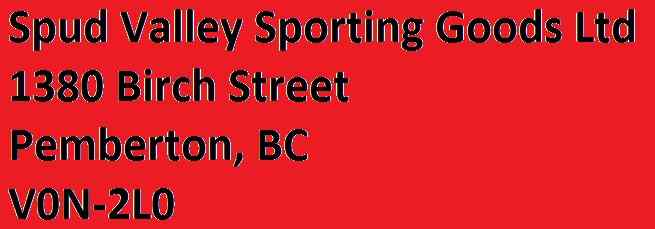 Contact - Spud Valley Sporting Goods Ltd