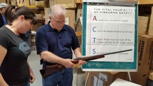 Learn how to handle a firearm safely