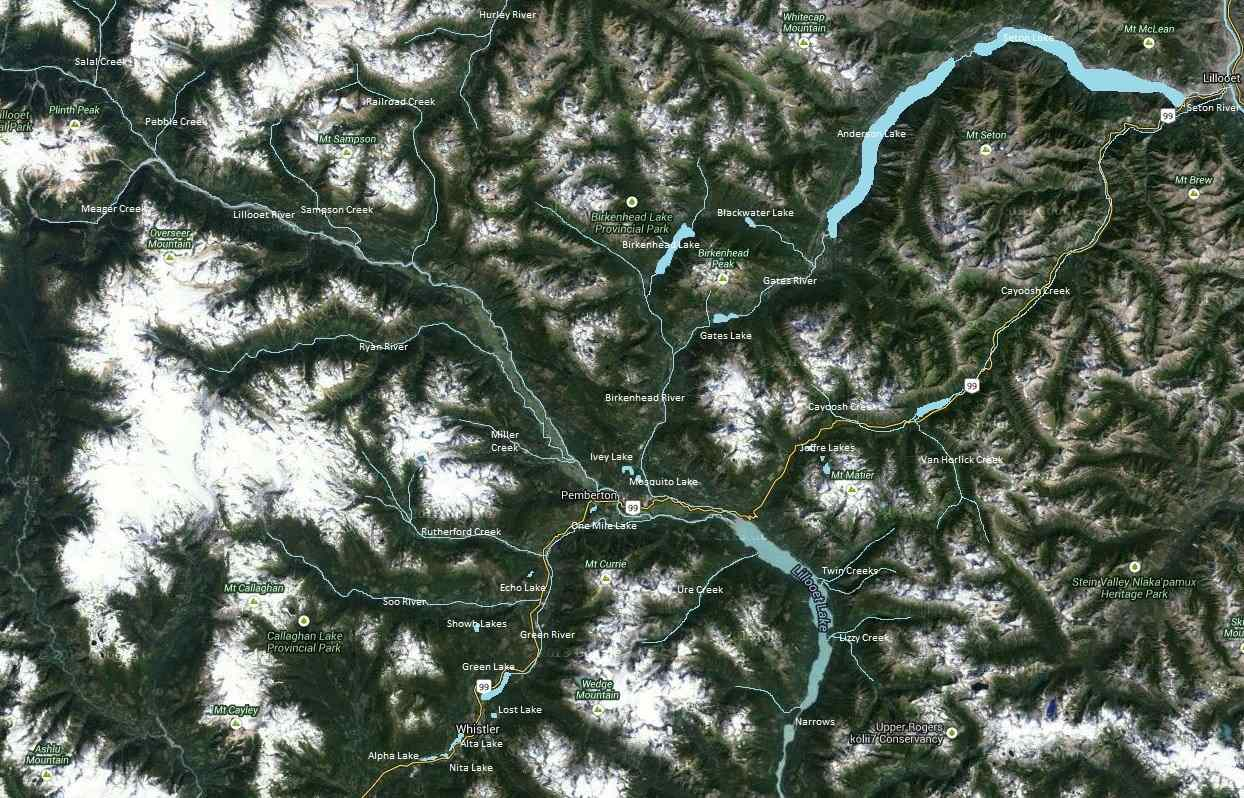 Pemberton Valley Map